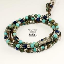koplet męskiej bizuterii,naszyjnik,bransoleta - Dla mężczyzn - Biżuteria