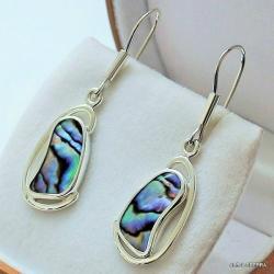 kolczyki srebrne,kolczyki z muszlami,srebro,biżute - Kolczyki - Biżuteria