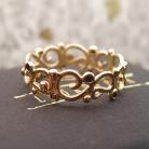 Pierścionki złota obrączka z diamentami