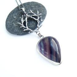 biżuteria artystyczna,srebrny wisior,rękodzieło, - Wisiory - Biżuteria