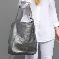 srebrna torba na ramię - Na ramię - Torebki