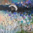 Obrazy łąka,akryl