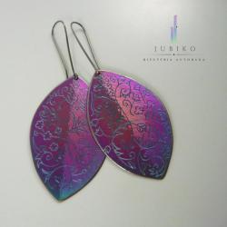tytan,kolczyki duże,ręcznie wykonane,letnie - Kolczyki - Biżuteria