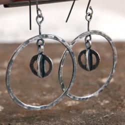 srebrne kolczyki koła - Kolczyki - Biżuteria