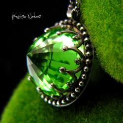 Nehesi,naszyjnik,srebrny,srebra,ametystem - Naszyjniki - Biżuteria