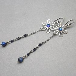 długie,delikatne,romantyczne,kwiaty - Kolczyki - Biżuteria