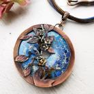 Naszyjniki florystyczny naszyjnik z miedzi,niebieski jaspis