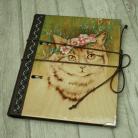 Notesy wypalanie,notatnik,szkicownik,kot,