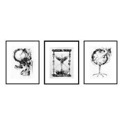 tusz,obraz tuszem,grafika,abstrakcja - Obrazy - Wyposażenie wnętrz