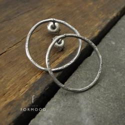 kolczyki sztyfty koła formood - Kolczyki - Biżuteria