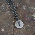 Naszyjniki srebrna zawieszka z sercem