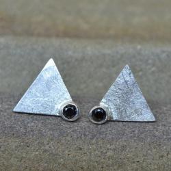 kolczyki sztyfty z lcyrkonią,minimalistyczne - Kolczyki - Biżuteria