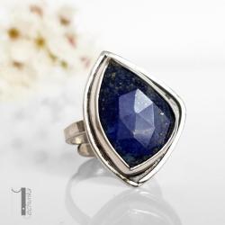 pierścionek srebny,lapis - lazuli,metaloplastyka - Pierścionki - Biżuteria
