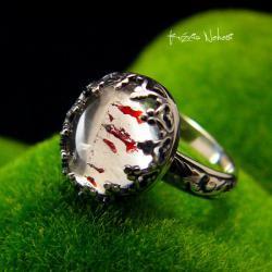 Nehesi,pierścień,srebrny,elfy,delikatny,górskim - Pierścionki - Biżuteria