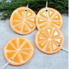 Ceramika i szkło pomarańcze,owoce na choinkę,plasterki pomarańczy