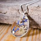 Naszyjniki biżuteria z żywicy,naszyjnik z żywicy,srebro