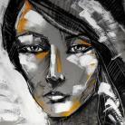 Ilustracje, rysunki, fotografia portret,kobieta,pastele,radzka,