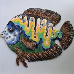 ryba,Beata Kmieć,multicolor,obrazek,ceramika - Ceramika i szkło - Wyposażenie wnętrz