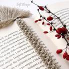 Zakładki do książek zakładka do książki z piórkiem,piórko,makrama