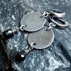 Kolczyki kolczyki wiszące,kolczyki długie,kolczyki srebro