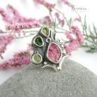 Pierścionki rubelit,rózowy turmalin,pierścień srebrny