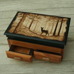 las,sarna,pitografia - Pudełka - Wyposażenie wnętrz