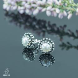klasyka,kobiece,sztyfty,perłowe,subtelne - Kolczyki - Biżuteria