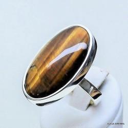 pierścionek z tygrysim okiem,srebro,biżuteria, - Pierścionki - Biżuteria