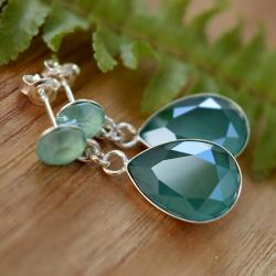 kolczyki ze szmaragdowymi kryształami swarovski - Kolczyki - Biżuteria