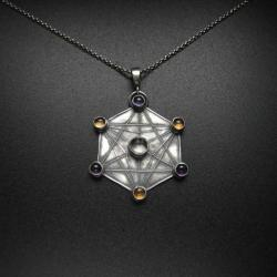 święta geometria,wisior,biżuteria srebrna,fiann - Wisiory - Biżuteria