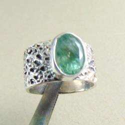 Pierścionek srebrny z akwamarynem - Pierścionki - Biżuteria