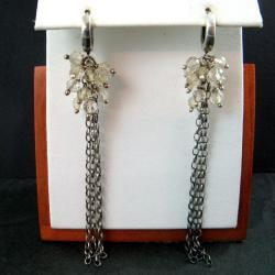 długie,z cytrynem - Kolczyki - Biżuteria