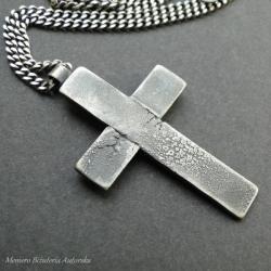 srebro,krzyżyk,męski,łańcuch - Dla mężczyzn - Biżuteria