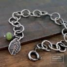 Bransoletki łańcuch,srebro,sosna,surowa