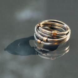 oryginalny,okazały,ze złotem - Pierścionki - Biżuteria