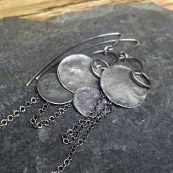 kolczyki srebrne długie,kolczyki oksydowane - Kolczyki - Biżuteria