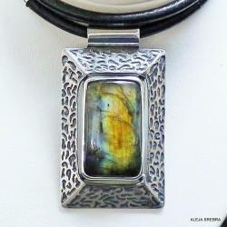 srebro,biżuteria,z,labradorytem,wisiory,naszyjniki - Wisiory - Biżuteria