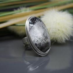 agat,dendrytowy,pierścionek,regulowany,duży - Pierścionki - Biżuteria
