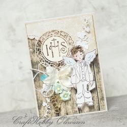 kartka,komunia,dla chłopca,komunijny, - Kartki okolicznościowe - Akcesoria