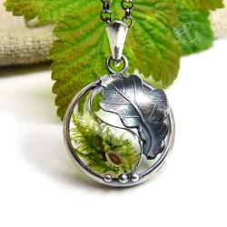 yin yang,mech,żywicanaturazen - Naszyjniki - Biżuteria