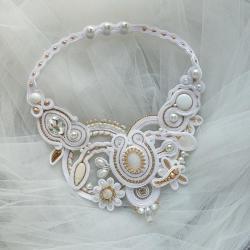 ślubny naszyjnik,biały naszyjnik - Naszyjniki - Biżuteria