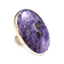 czaroit,blask,fiolet,srebrny,srebrny,fiolet,retro - Pierścionki - Biżuteria