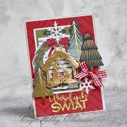 święta,boże narodzenie,życzenia,szopka - Kartki okolicznościowe - Akcesoria