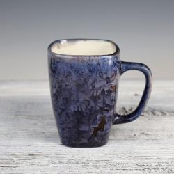 kobaltowy kubek ceramiczny,porcelana - Ceramika i szkło - Wyposażenie wnętrz