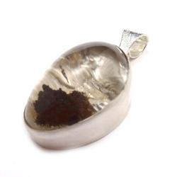 kwarc lodolitowy,kwarc,srebrny,okaz,duży,piękny - Wisiory - Biżuteria