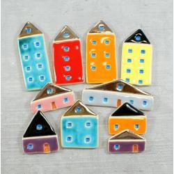 kolorowe,miasteczko,domki,wesołe,magnesy - Magnesy na lodówkę - Wyposażenie wnętrz