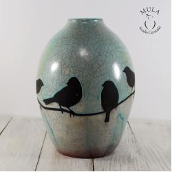 maska,raku,ceramika,krakle, - Ceramika i szkło - Wyposażenie wnętrz