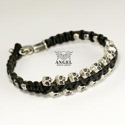 bransoleta z czaszkami,biżuteria męska - Dla mężczyzn - Biżuteria