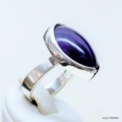 srebro,ametyst,pierścionek z ametystem,biżuteria - Pierścionki - Biżuteria