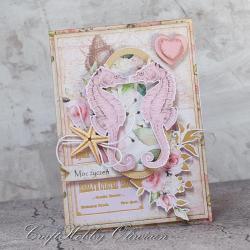 ślubna,ślub,konik morski,koniki morskie,kwiaty - Kartki okolicznościowe - Akcesoria